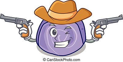Cowboy blueberry roll cake character cartoon