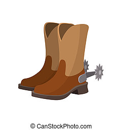 Cowboy boot cartoon icon on a white background