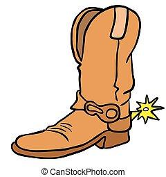 cowboy boot cartoon