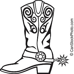 cowboy boot illustrations and clip art 3 083 cowboy boot royalty rh canstockphoto com cowboy boot clip art free cowboy boots clip art images