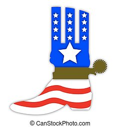cowboy boots in the US flag style