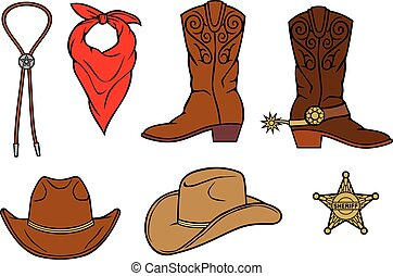 cowboy boots vector illustration