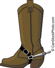 cowboy boots with spurs - The old cowboy boots with spurs,...