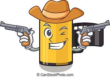 Cowboy camera roll in the mascot shape