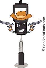 Cowboy cell phone holder in cartoon shape