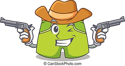 Cowboy character style short pant for hangout vector...