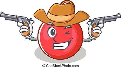 Cowboy Christmas ball character cartoon