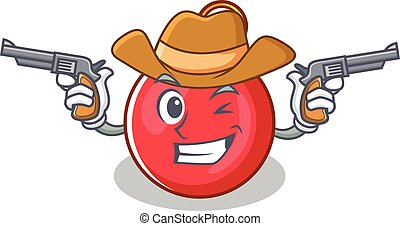 Cowboy Christmas ball character cartoon