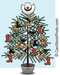 Cowboy Christmas Tree