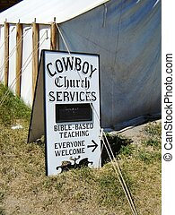 Cowboy church service