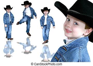 cowboy, collage
