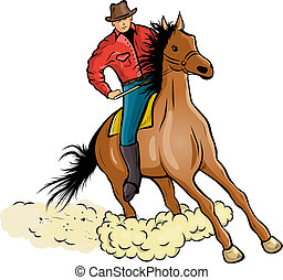 cowboy - Cowboy is riding the horse