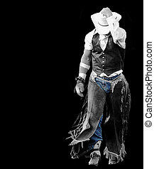 A cowboy just after falling from his horse at a rodeo in Cottage Grove, or.
