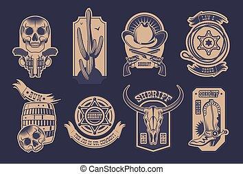 Cowboy Emblem Set