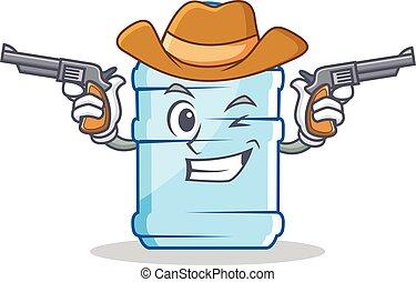 Cowboy gallon character cartoon style