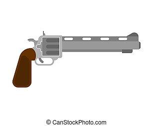 Cowboy gun isolated. Wild West gunfighter weapon. Western handgun