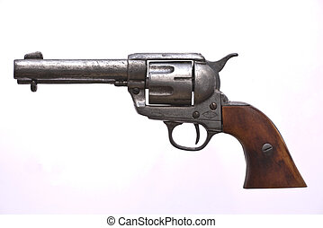 Cowboy gun normally used in the old American West