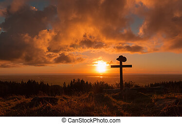 Cowboy Hat Cross - Cowboy hat on a cross with a wonderful...