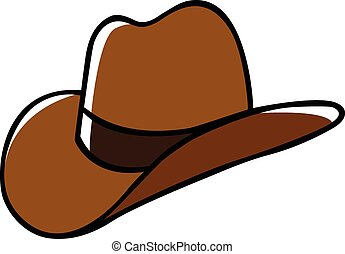 Cowboy Hat - Doodle illustration of a cowboy hat