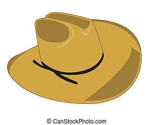 cowboy hat - Illustration of a cowboy hat