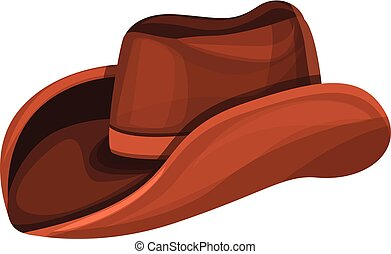 Cowboy hat icon, cartoon style