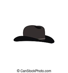Cowboy hat icon in flat style