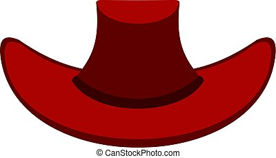 Cowboy hat icon isolated