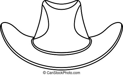 Cowboy hat icon, outline style