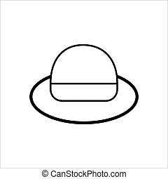 cowboy hat icon, vector cowboy hat silhouette