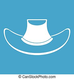 Cowboy hat icon white