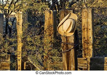 Cowboy Hat on a Post