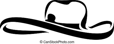 cowboy hat silhouette . vector illustration