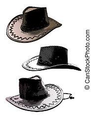 cowboy hats trio