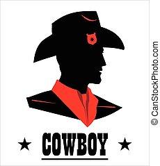 cowboy head silhouette