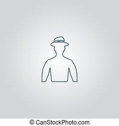 cowboy head vector illustration