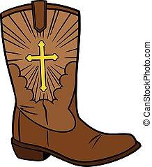 cowboy icona, chiesa