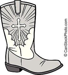 cowboy icona, illustrazione, chiesa
