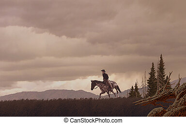 Cowboy - Image from an original painting by Larry Jacobsen...