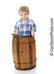 Cowboy in a Barrel