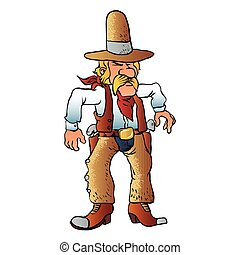cowboy in duel cartoon