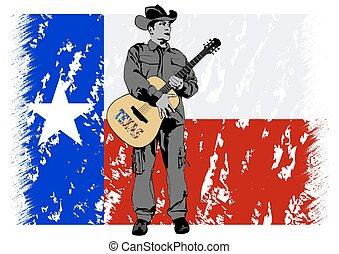 Cowboy in hat