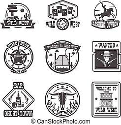 Cowboy label set