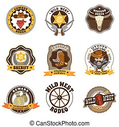 Cowboy Labels Set