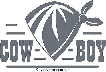 Cowboy logo, vintage style