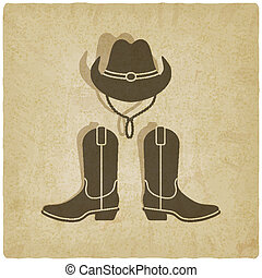 cowboy old background - vector illustration. eps 10