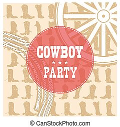Cowboy party card background