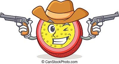 Cowboy passion fruit character cartoon
