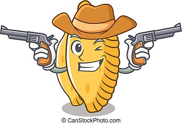 Cowboy pastel character cartoon style vector illustration