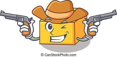 Cowboy plastic building blocks cartoon on toy