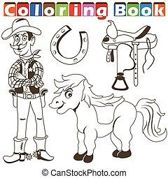 cowboy pony color book